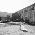Lichtfabriek Buitenterrein Huwelijk Bruidspaar